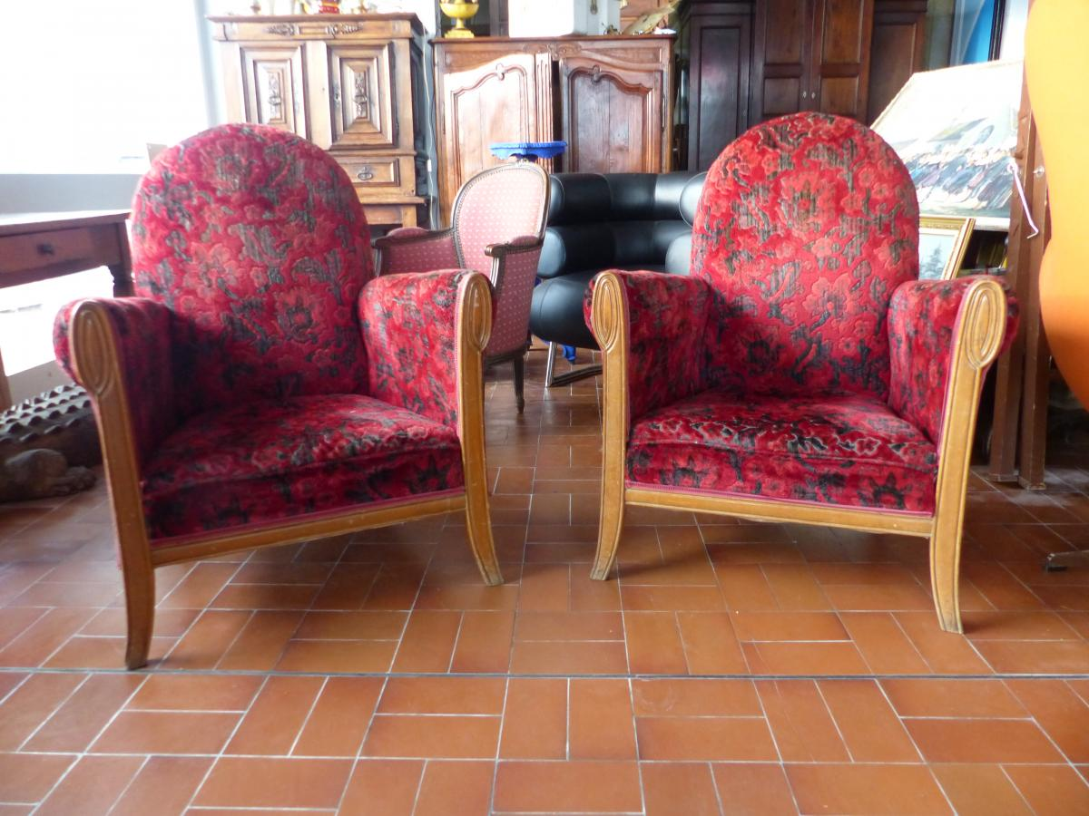 Rare Pair of armchairs circa Art Nouveau period France