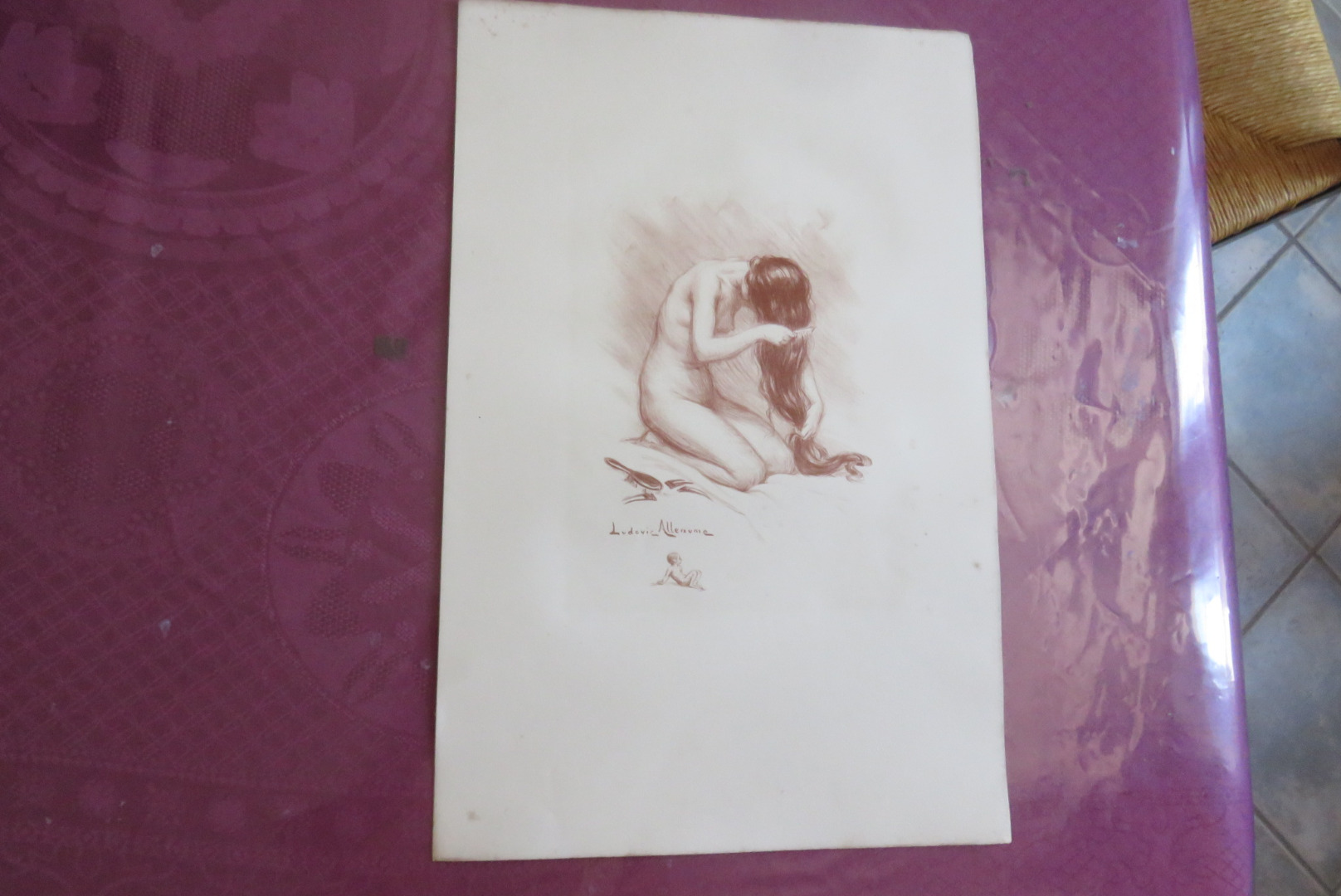 LITHOGRAFIE ONDERTEKEND LUDOVIC ALLEAUME