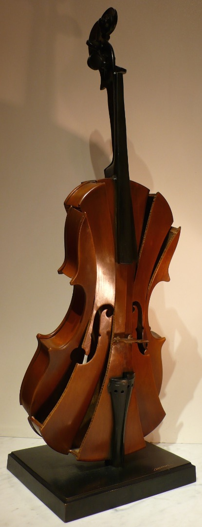ARMAN Bronze Sculpture 20th Century Signed Violin Cut III Modern Art