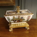XIXth Porcelain Inkwell