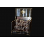 Cellar liqueur Napoleon III  19th century  Crystal and precious wood