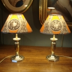 Small Pair Of Lamps In Bronze